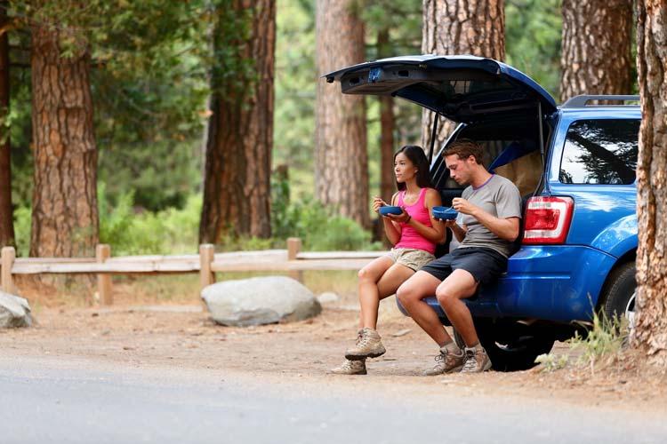 Driving through Yosemite