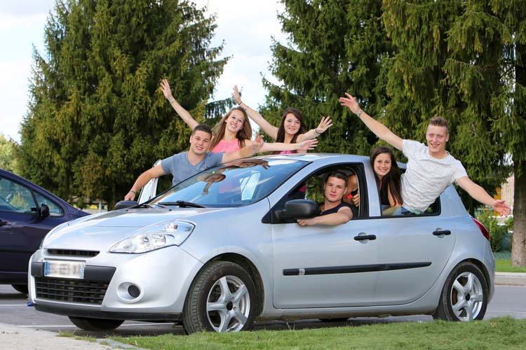 Group of Teenagers Carpooling