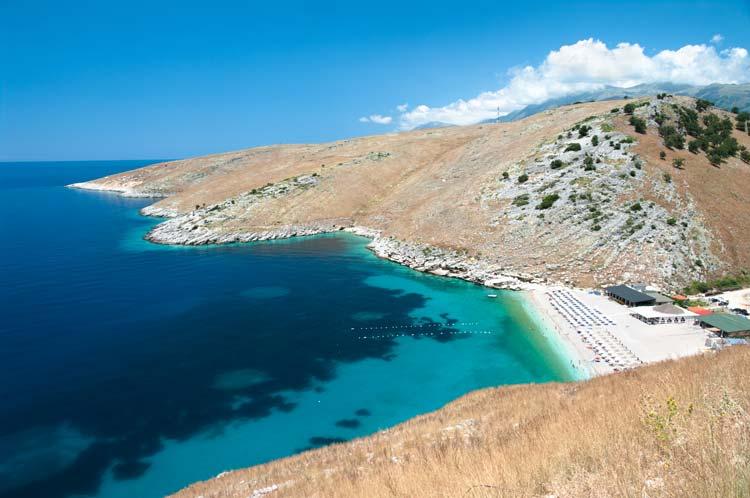 Beautiful Coast of Southern Albania near Himare