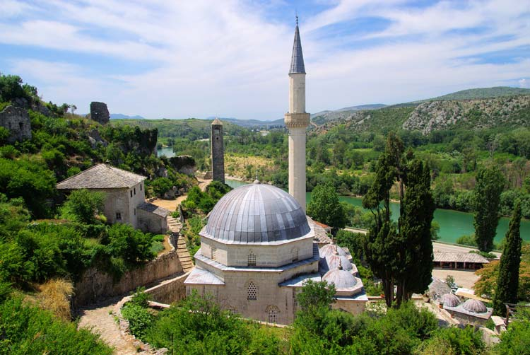 Famous Pocitelj Mosque in Bosnia Herzegovina