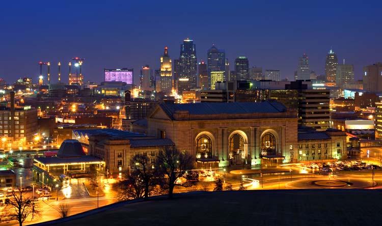 Kansas City Missouri by Night