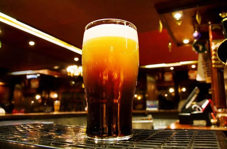Pint of Irish Black Beer