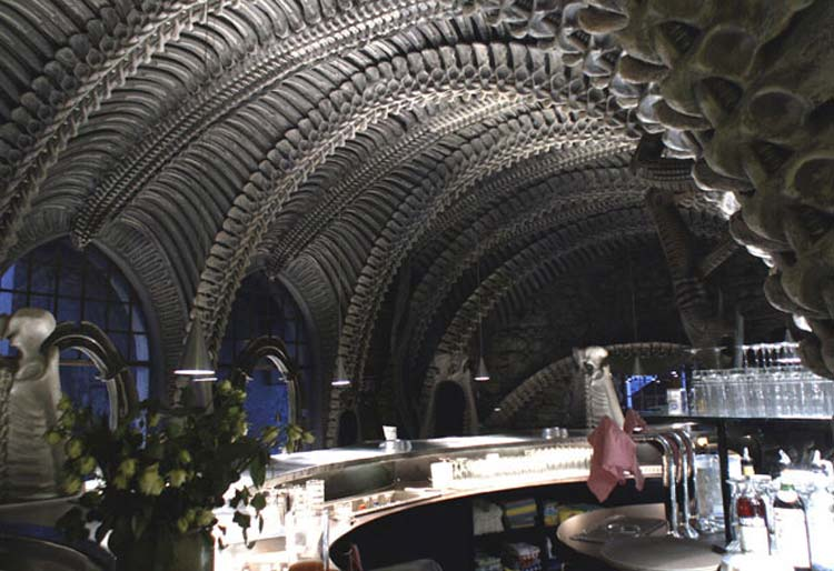 Skeleton (HR Giger) Bar, Gruyere, Switzerland