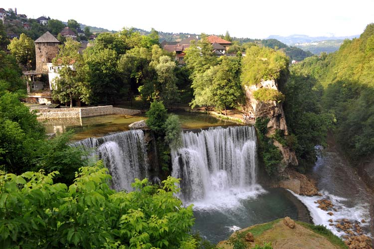 Waterfalls in Jajce Bosnia & Herzegovina