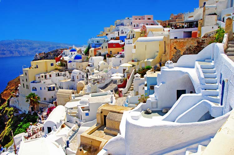 Amazing Colorful Santorini, Greece