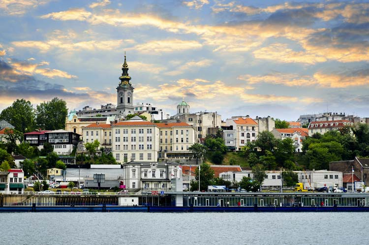 Belgrade from Danube River, Serbia