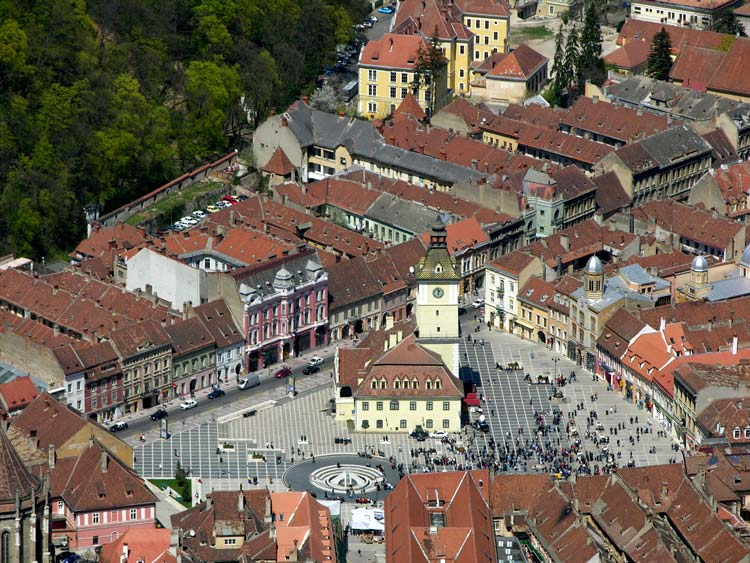 Center of the Old Town of Brasov, Romania
