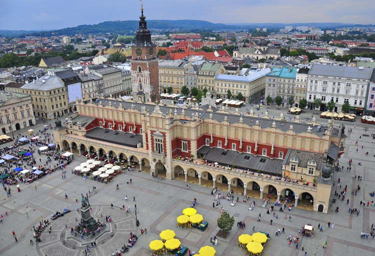 Krakow main Square, Poland