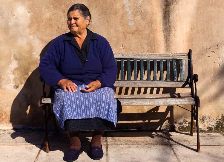 Old Greek Woman in Southern Greece