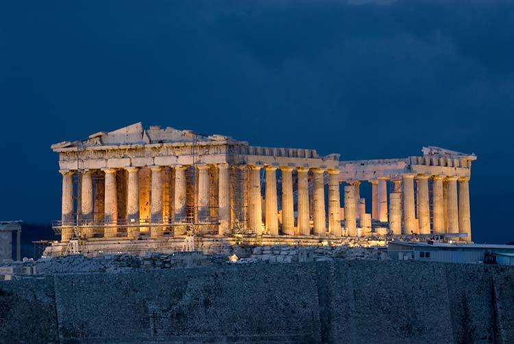 Parthenon on Acropolis in Athens, Greece