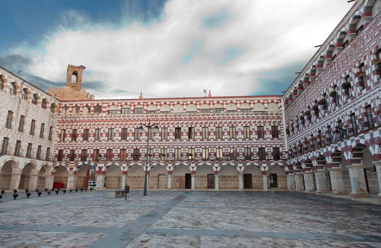 Plaza Mayor of Badajoz, Spain