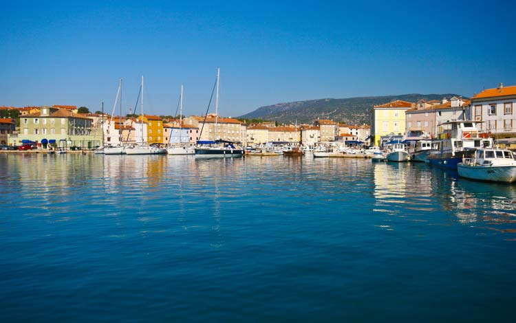 Small town of Cres, Croatia
