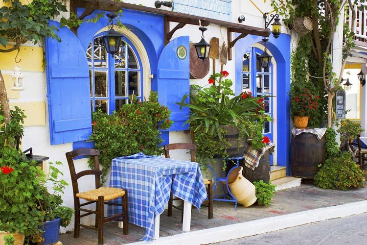 Taverna in Malia, Crete, Greece