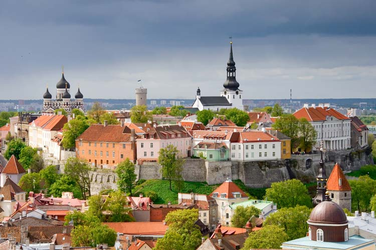 View of Toompea Hill, Tallinn, Estonia