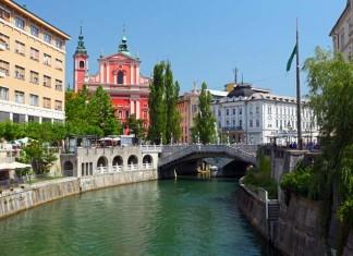 Ljubljana and Ljublanica River, Slovenia