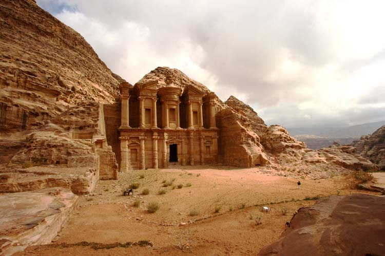 Monastery in the Ancient and Historic Archaeological Site of Petra in Jordan