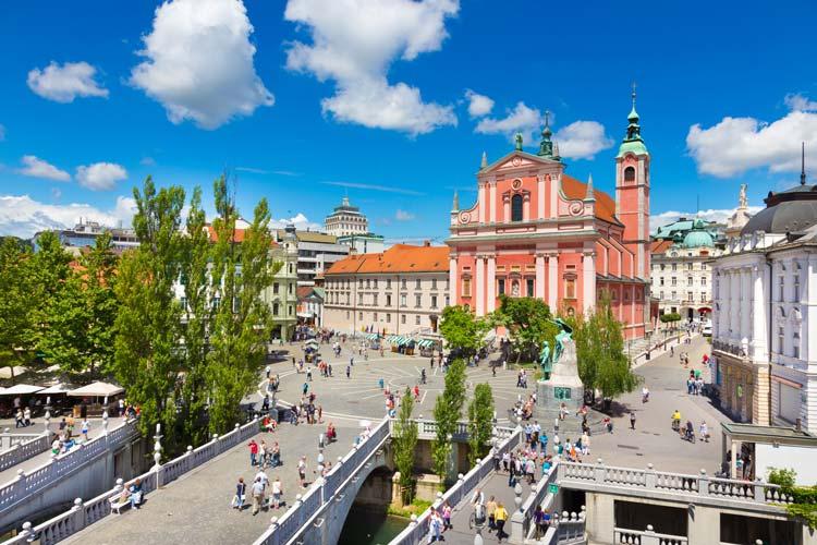 Preseren Square, Ljubljana, Slovenia