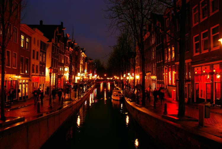 Redlight District in Amsterdam, The Netherlands