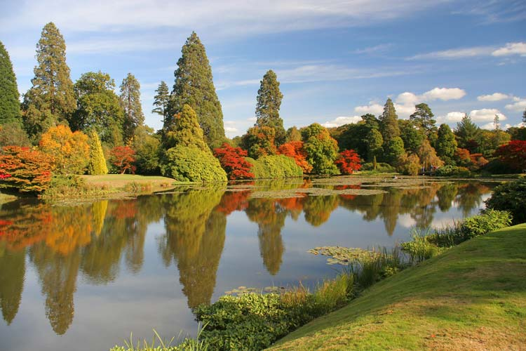 Autumn Lake at Sheffield Park, Sussex, England