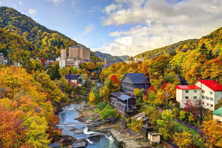 Hot Springs Town of Jozankei, Japan