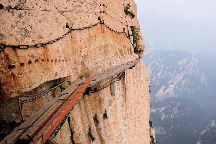 The Death Trail Mount Huashan in China