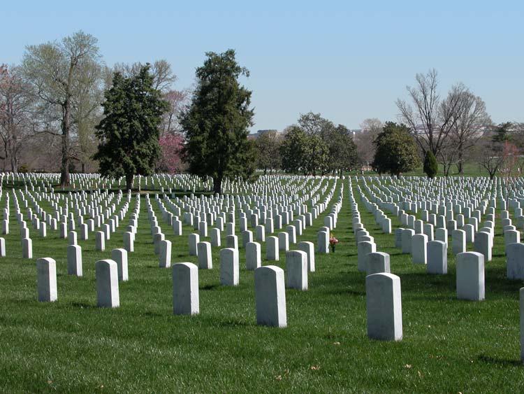 Arlington National Cemetery in Virginia, USA