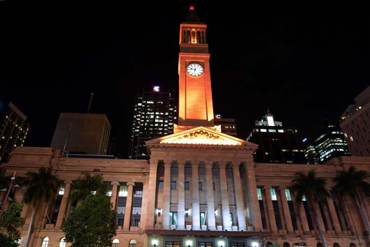 Brisbane City Hall in Queensland Australia