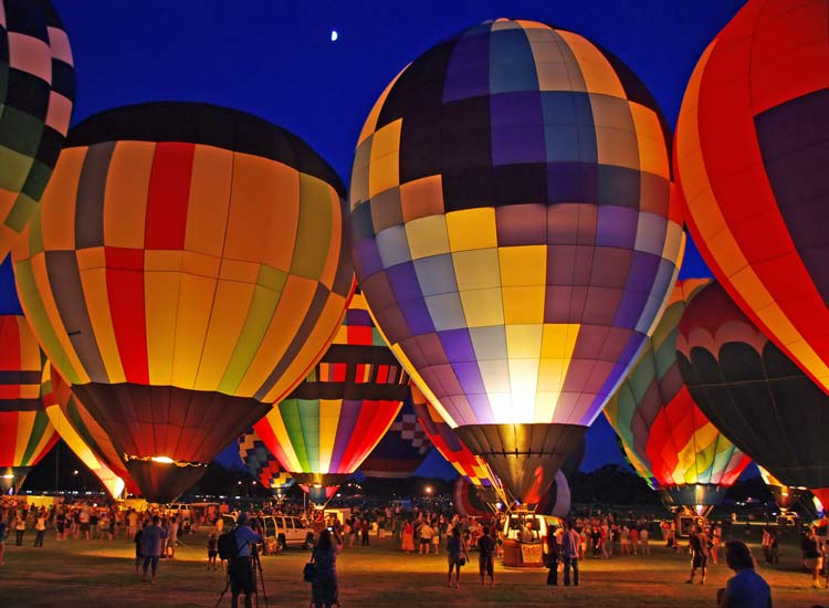 Go on a magical adventure with a hot air balloon