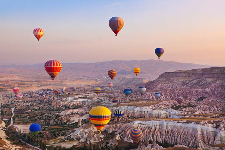 Go on an aeronautical adventure in Cappadocia, Turkey