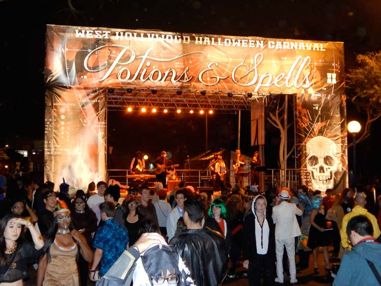 Halloween Carnival in West Hollywood, California