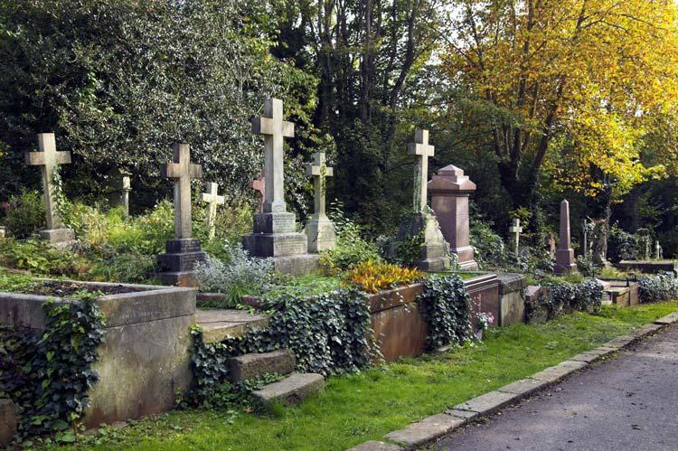 Highgate Cemetery in London, England