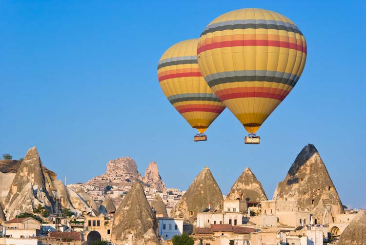 Hot air balloons at Cappadocia, Turkey