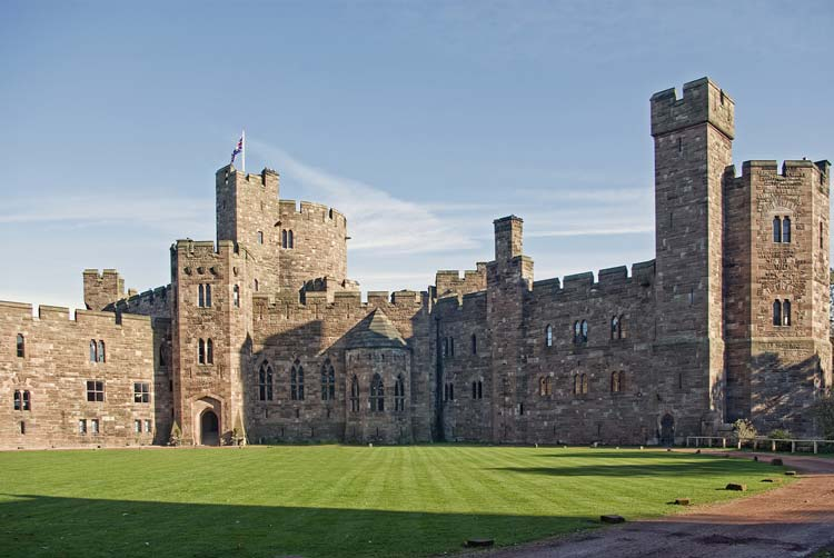Peckforton Castle in Cheshire, England