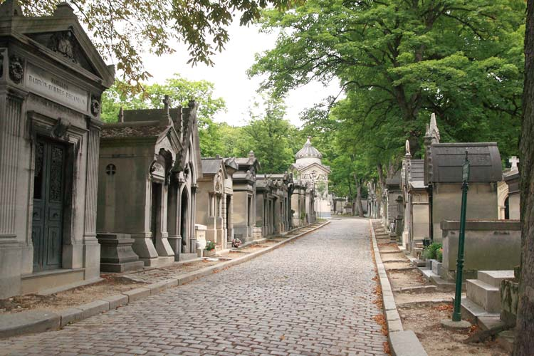 Pere-Lachaise Cemetery in Paris, France