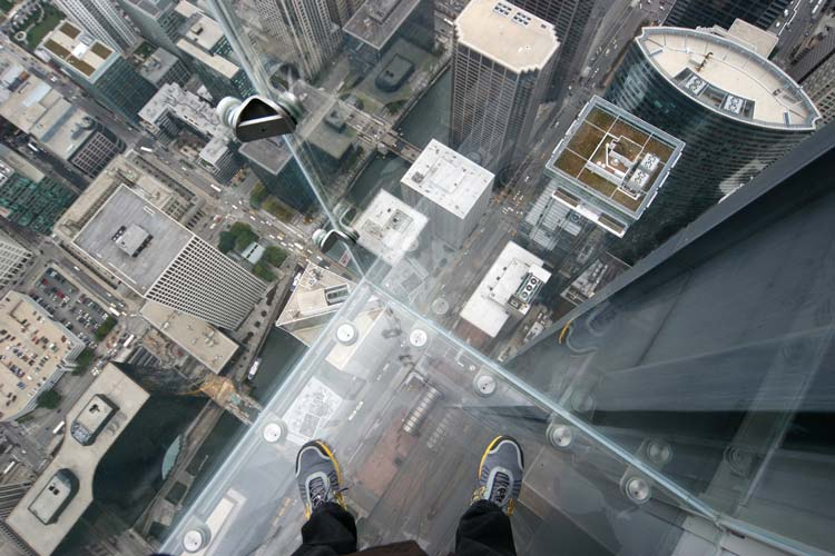 Skydeck of the Willis Tower in Chicago, Illinois, USA