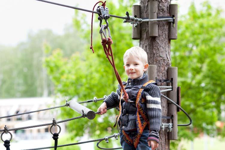 Boy Prepared to go Zip Lining