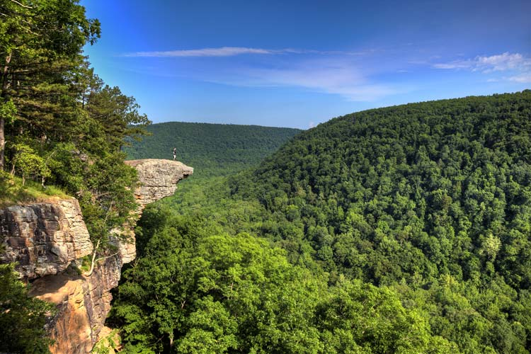 Hawksbill Crag in Arkansas