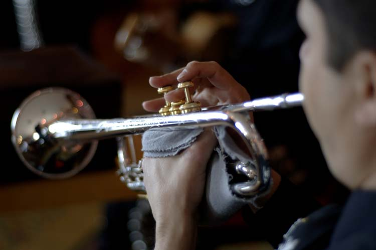 Mariachi playing trumpet