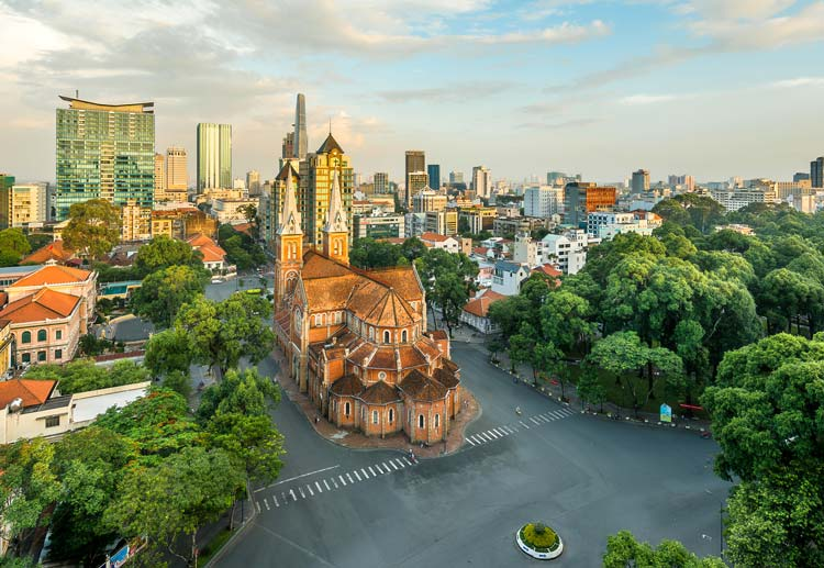 Notre Dame in Downtown Ho Chi Minh City, Vietnam