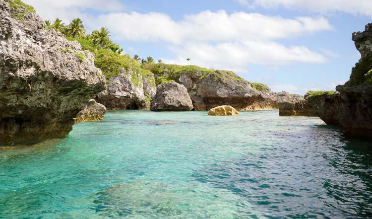 Sea Pool On Niue Island
