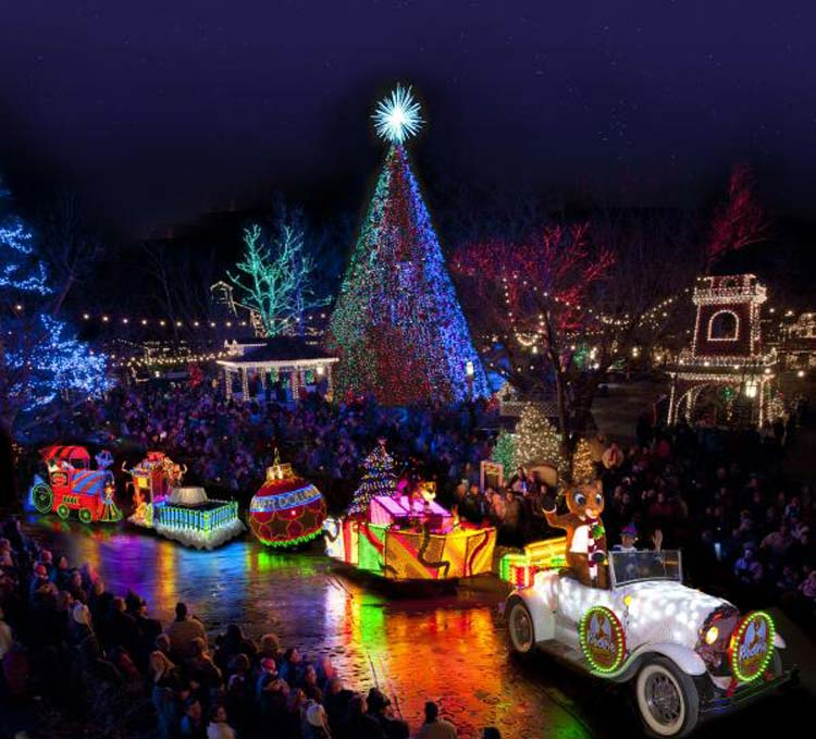 Silver Dollar City Light Display