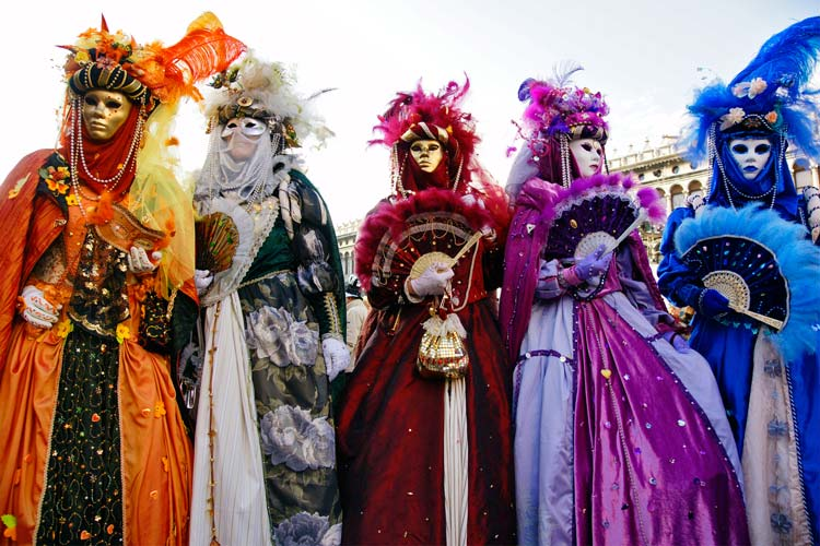 The Famous Carnival in Venice, Italy