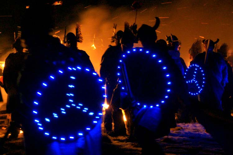 Up Helly Aa Festival in Lerwick, Scotland