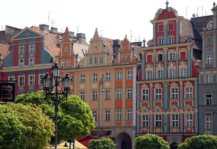 Buildings in Old Town of Wroclaw