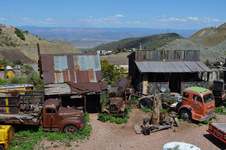 Old Houses and Vehicles in Jerome Arizona