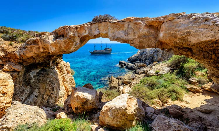 Rock Arch in Cyprus