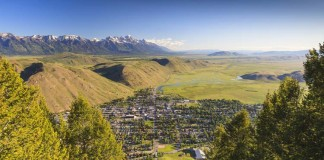 View of Jackson Hole WY