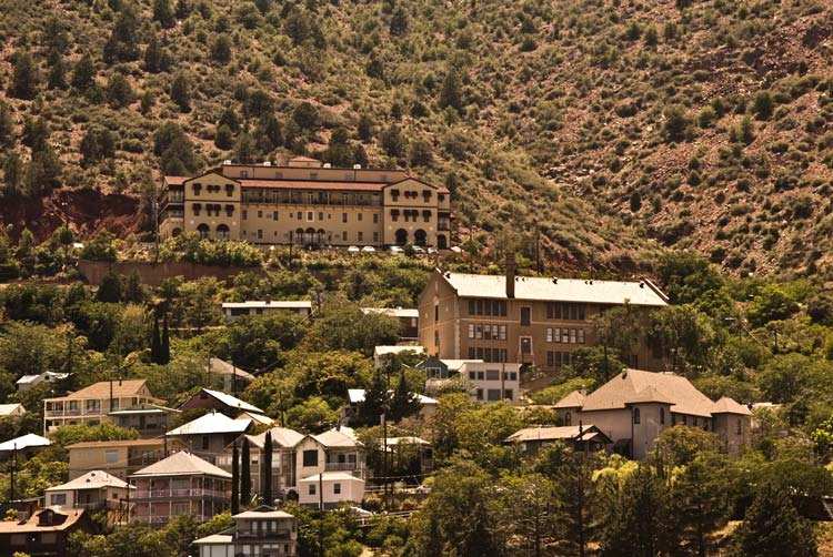 View of Jerome with the Grand Hotel in the back