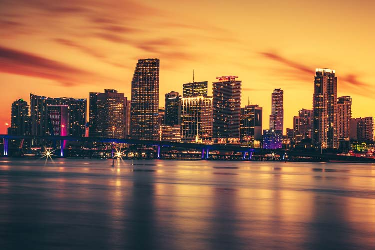 Sunset Miami Florida