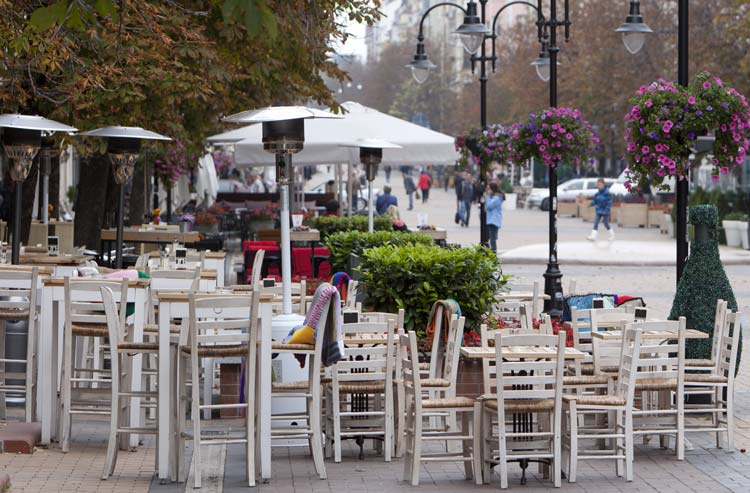 Terrace Sofia Bulgaria